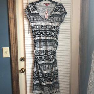 BONGO BLACK AND WHITE DRESS LARGE